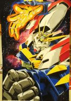 Burning Gundam- Erupting Burning Finger! by talcardi