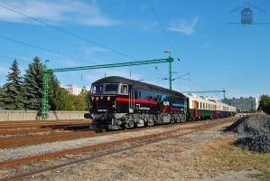 659 001-5 with a special train in Gyor on 2013 -1 by morpheus880223