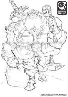 Nordic Santa Claus - sketch by Emerson-Fialho