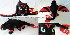 [PLUSH] Racing Stripes Toothless by ShiroTheWhiteWolf