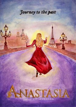 Anastasia Broadway (Watercolor Painting) by julesrizz