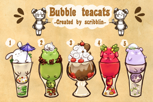 Bubble teacats #1 .Adoptable. [closed] by scribblin