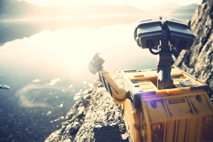 Wall-E wants to swim by Trudelicat