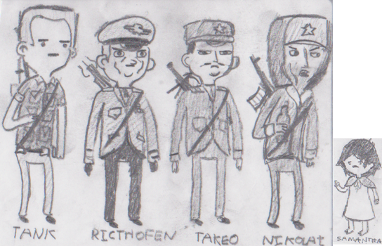 Call of duty zombies characters (WAW and BO's.) by AceNos