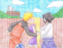 Replacement Kiss - Naruto x Ino by BloodyRiley