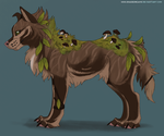 Mushroom canine adoptable #2 - Auction CLOSED by ShadeDreams