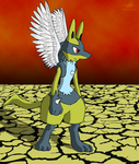 Request - Shiny Winged Lucario by Dragon-Minded