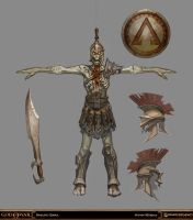 God of War - Undead Hoplite by Raggedy-Annedroid