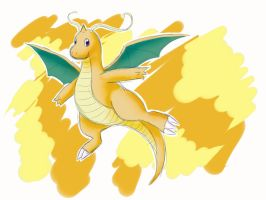 Sketchy Dragonite by IcelectricSpyro
