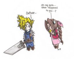 Cloud Met A Cactuar... by Kahlan4