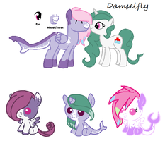 MLP Breedable: Kendall and Damselfly -CLOSED- by ChopstickGirl241