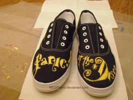 PanicAtTheDisco Custom Shoes by MEEPxoxo