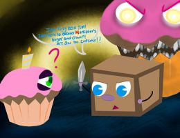 Tiny box Tim VS The Cupcake(s) by BluePosey
