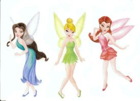 Disney fairies by DreamyNaria