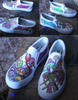 psychedelic shoes by PiercedHobo