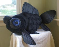Black Fish Plushy by leodragon42
