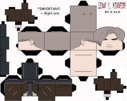 Leon Scott Kennedy Cubeecraft by E-419
