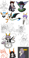 YO IT'S THE FIRST SKETCH DUMP OF 2013 LET'S PARTY by pandalecko