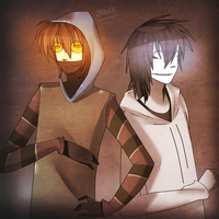 Jeff the Killer and Ticci Toby by 1Day4Dreams