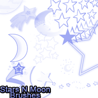 Stars N Moon Brushes by lunabeam18