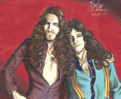 David Coverdale and Glenn Hughes by cozywelton