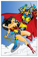 Wonder Woman vs. Big Barda by topher208