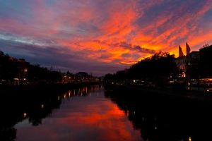 Sunset on Liffey by aryss-skahara