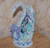 3D Origami Patchwork Swan... by pprcrft5