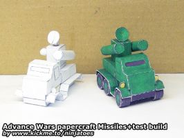 papercraft Green Earth Missiles + test build by ninjatoespapercraft