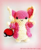 Audino Pokemon Amigurumi by yarnmon