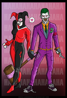 Joker and Harley Quinn by SamGreenArt