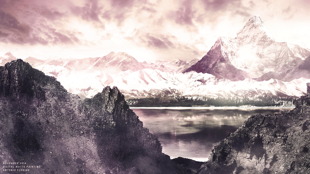 Matte painting - Snowy Mountains by IMTFX