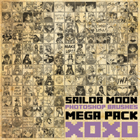 Sailor Moon Mega Brush Pack [2013] by radroachmeat