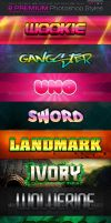 8 Premium Photoshop Styles 3 by fluctuemos
