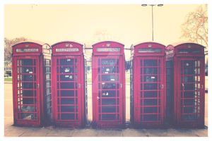 Phone Booths, London by TheLovingKind89