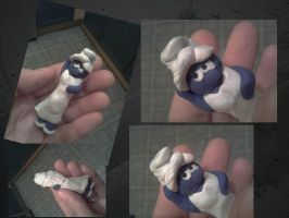 WIP 'Fimo Clay' Smurfette by UncleGargy