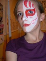 Red And White Facepaint by hollyLEP