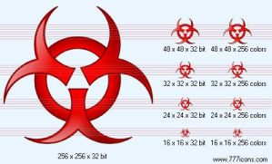 Bio hazard Icon by science-icons