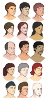54 head busts by Respeanut