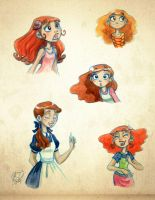 watercolor girls by roby-boh