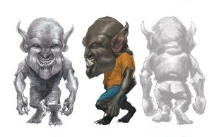 Wolfman caricature by JJ415