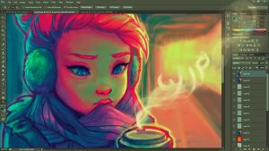 Hot Coffee WIP by DestinyBlue