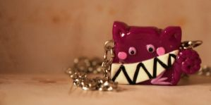 Chesire Cat Necklace Pendant by mariloufrancisco