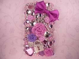 Purple Deco Bling iPhone 4/4s Case by Kuppiecake