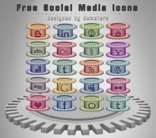 Free Social Media Icons by demeters