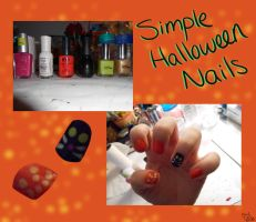 Simple Halloween Nails by BlueEyesNeko