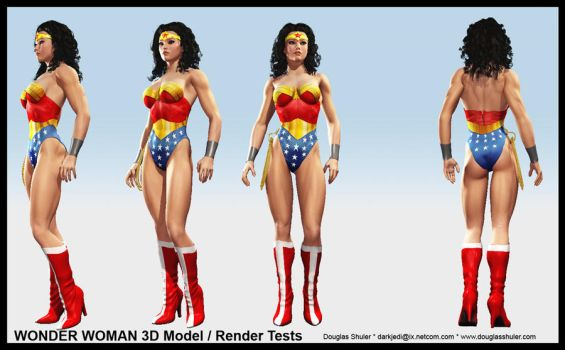 WONDER WOMAN Costume Tests by DouglasShuler