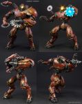 Custom Pacific Rim Crimson Typhoon action figure by Jin-Saotome