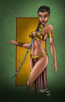 Princess Leia Slave by MarcBourcier