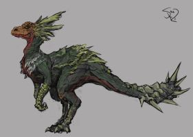 Great Maccao, the Jumping Dog Wyvern by Halycon450